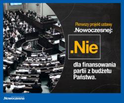 Pierwszy projekt ustawy Nowoczesnej – finansowanie partii spoza budżetu