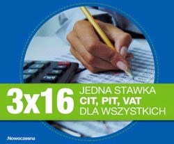 Podatki 3 x 16% VAT CIT i PIT