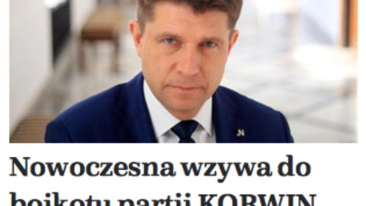 Nowoczesna bojkotuje J.Korwin-Mikke. Nie godzimy się na brednie idioty.