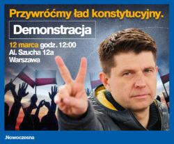 #12Marca przywróćmy ład konstytucyjny – protest o 12:00 przed siedzibą TK