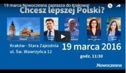 Nowoczesna rozpoczyna wizyty w Polsce. 19 marca będziemy w Krakowie