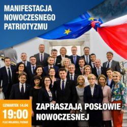 Manifestacja Nowoczesny Patriotyzm, Poznań 14 kwietnia.