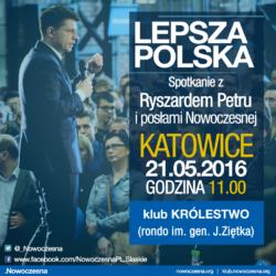 21 maja w Katowicach porozmawiajmy o lepszej Polsce!