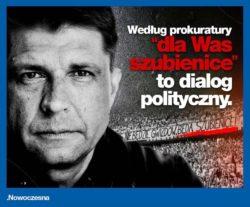 Nowoczesna złoży zażalenie na odmowę wszczęcia śledztwa ws. transparentu kiboli