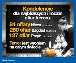 Wyrazy współczucia dla bliskich ofiar zamachu w Nicei