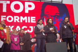 Nowoczesna na manifestacji: Stop reformie edukacji!