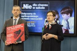 """Nowoczesna dołączyła do protestu nauczycieli """"Nie dla chaosu w szkole"""""""
