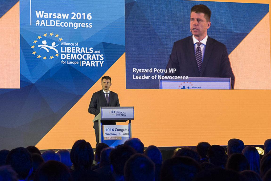 Ryszard Petru na kongresie ALDE: Gdyby wybory były dzisiaj, moglibyśmy wygrać