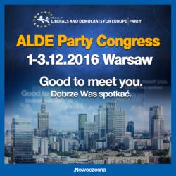 Nowoczesna na kongresie ALDE wśród przywódców państw i partii liberalnych z Europy
