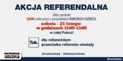 Złóż podpis. TAK dla referendum przeciwko reformie oświaty
