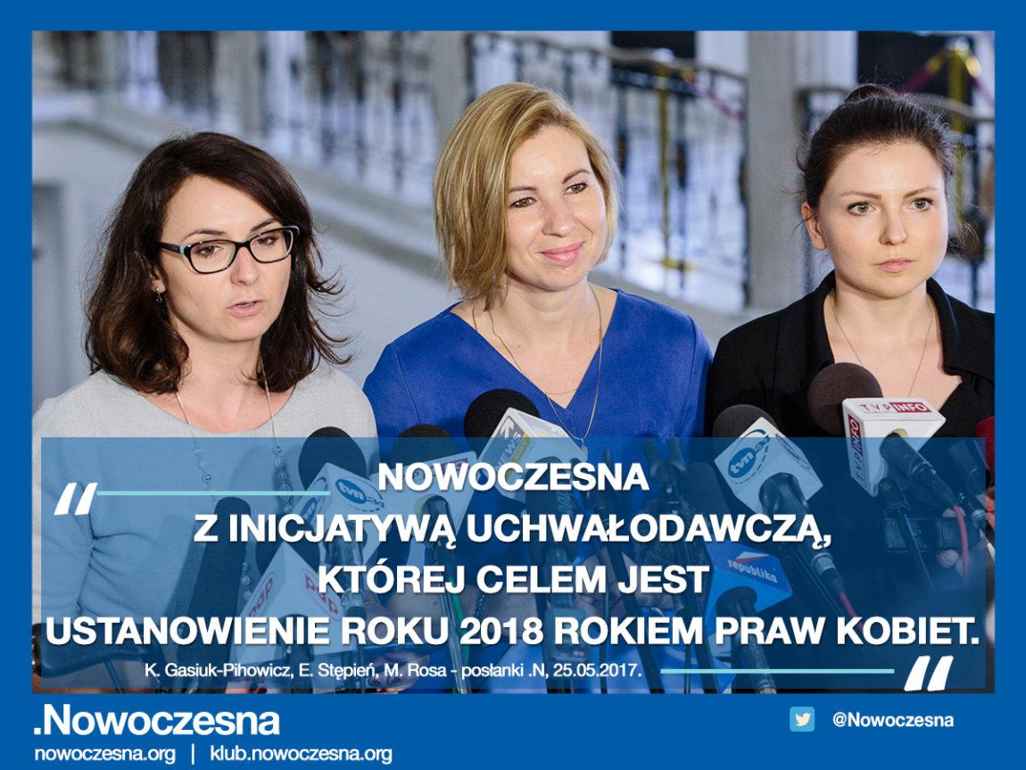 Niech 2018 będzie Rokiem Praw Kobiet – apeluje Nowoczesna