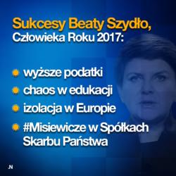 """""""OSIĄGNIĘCIA"""" CZŁOWIEKA ROKU 2017"""