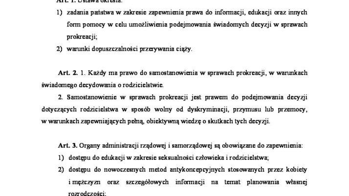 Nowoczesna złożyła projekt ustawy o świadomej prokreacji