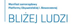 BLIŻEJ LUDZI. Manifest samorządowy Platformy Obywatelskiej i Nowoczesnej
