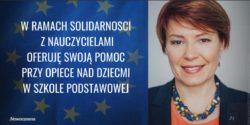 Joanna Czerska-Thomas, kandydatka Nowoczesnej do PE, wspiera strajk nauczycieli.