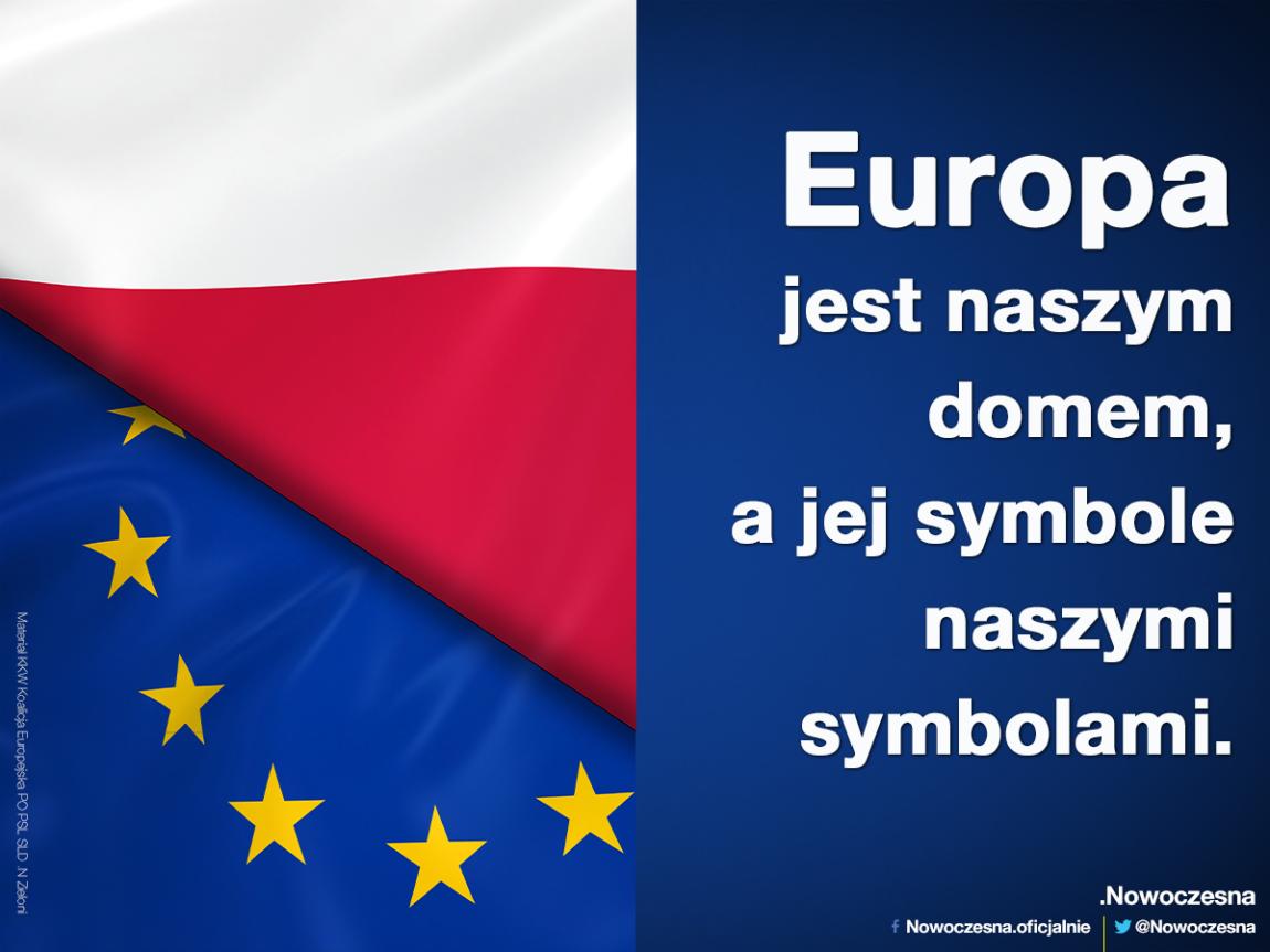 Flaga Unii Europejskiej chroniona tak samo jak flaga państwowa – nowa ustawa Nowoczesnej.