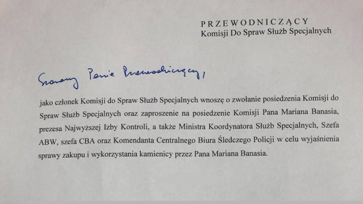 Z inicjatywy Adama Szłapki Komisja Służb Specjalnych zbada sprawę Banasia!